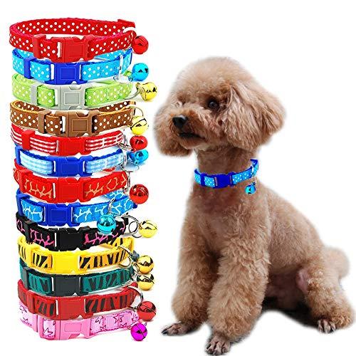 AEAP 3 Stücke/Los Hundehalsband Haustier-Katze-Kragen-Punkt-Bell-Welpen-Halskette für Katze Small Medium Hund Tierbedarf Tierzubehör