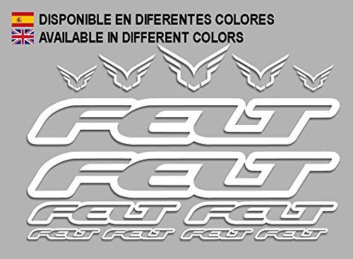 Ecoshirt 6T-GFEP-3H1P Pegatinas Felt F172 Vinilo Adesivi Decal Aufkleber Клей MTB Stickers Bike, Blanco