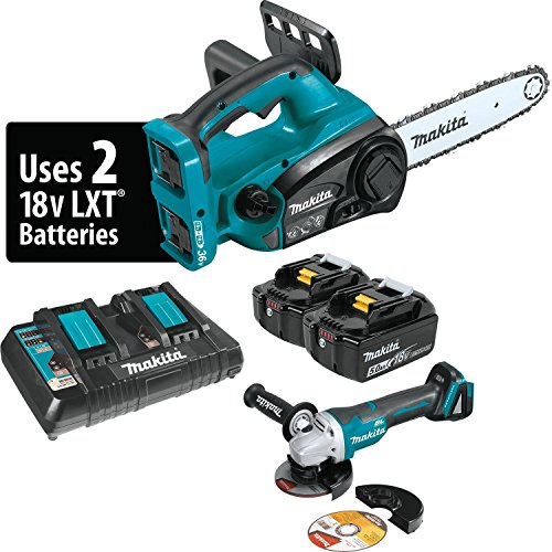 Makita XCU02PTX1 Lithium-Ion Cordless Chain Saw Kit and Angle Grinder