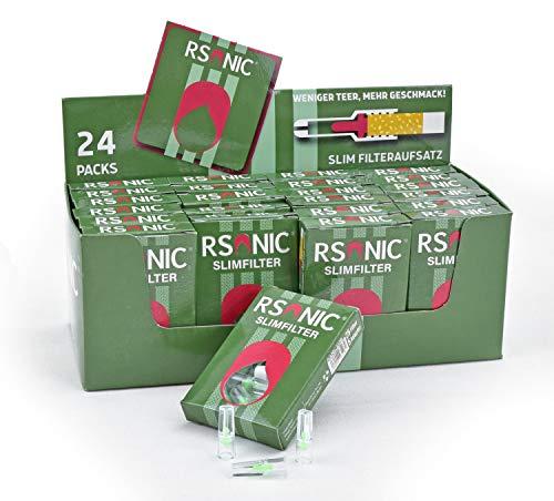 RSonic - TruWare Zigarettenfilter Nikotinfilter Zigarettenspitzen Filteraufsatz 24 x 25 600 Mikrofilter + 120 Adapter
