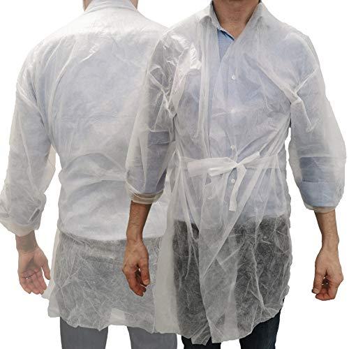 Kimono TNT desechable certificado CE. Color blanco. Talla única: 10 unidades.