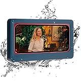 Shower Phone Holder,Bathroom Waterproof Phone Cradle,Touchable Screen Phone Shelf,Phone Holder for Shower WeLohas (Dark Blue)