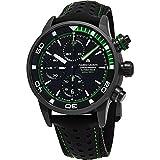 Maurice Lacroix Pontos S Extreme Diver Chronograph Herren Uhren–43mm schwarz Zifferblatt schwarz Leder Band Swiss Automatic Dive Uhr für Herren pt6028-alb01–332–1