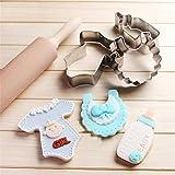 Belupai - Molde de acero inoxidable para hornear galletas, cortador de ropa de...