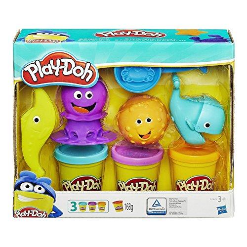Hasbro Play-Doh-B1378EU4 Play-Doh Ocean Tools Modeling Dough Any Gender Blue Purple Yellow, B1378