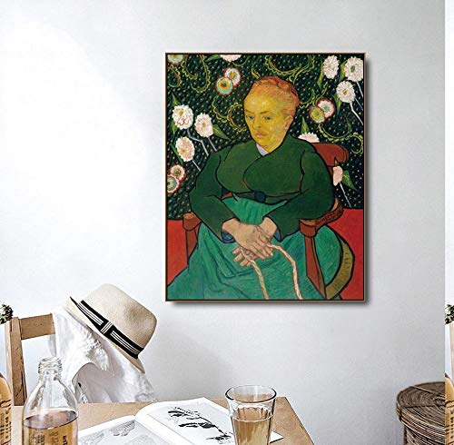 Oszagh Canvas Wall Art Printing, HD Prints Van Gogh -Woman Rocking A Cradle -48X60Cm No Framed, Replica Picture Photo on Canvas Wall Art for Home