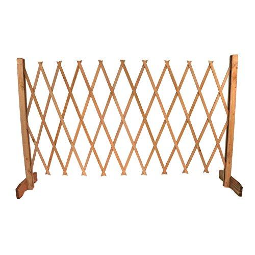 Oypla Expanding Freestanding Wooden Trellis Fence Garden Screen