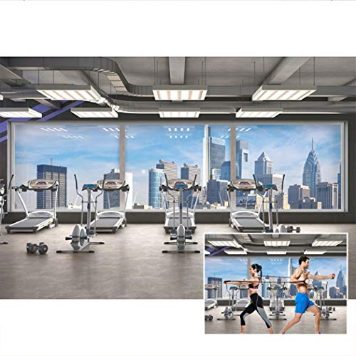 DASHAN 7x5ft Polyester Gym Backdrop Bodybuilding Exercise Interior Online Teaching YouTube Sports Fitness Gym Photography Background Training Wellness Backdrops Men Adult Portrait Video Photo Props