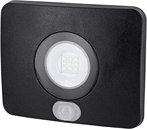 Superslim - Foco led para exteriores (IP65, con sensor de movimiento, 10 W, 750 lm, 230 V, 36 mm, plano, 6500 K), color blanco frío