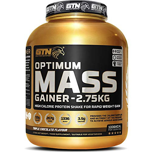 Gold Tech Nutrition Optimum Mass Gainer Protein Powder High Calorie Mass Gainer with Vitamins Creatine Monohydrate and Glutamine 275 kg Triple Chocolate Flavour