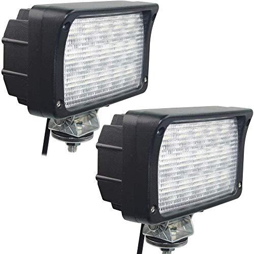 EKLAMP Arbeitsscheinwerfer, 45W 6 Zoll 24V LED Scheinwerfer, Nebelscheinwerfer, LED Zusatzscheinwerfer für Traktor 6000K IP68 5800LM, Motorrad, SUV, SUV, UTV, ATV (2 Stück Matte)