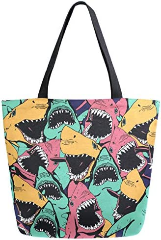 ZzWwR Chic Beautiful Peacock Magnolia Flowers Pattern Elegant Extra Large Canvas Beach Travel Reusable Grocery Shopping Tote Bag Portable Storage HandBag