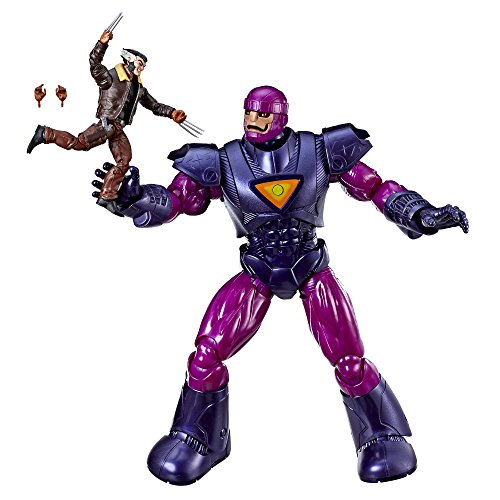 """Hasbro Marvel Legends Series X-Men Days of Future Past 16"""" Electronic Sentinel and 6"""" Wolverine Figure (Amazon Exclusive)"""
