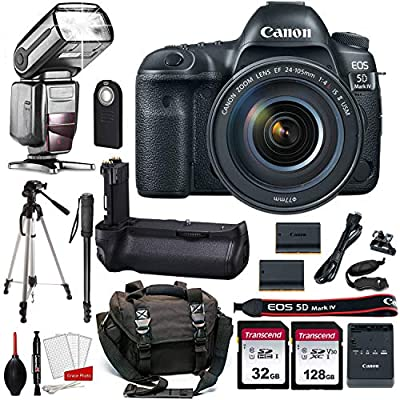 Canon EOS 5D Mark IV Digital SLR Camera Bundle (Body Only) + Prime Accessory Bundle (20 Items) by Canon Intl.