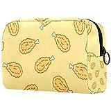 Bolsa de maquillaje personalizada para brochas de maquillaje, bolsas de aseo portátiles para mujeres, bolso cosmético, organizador de viaje de pollo, baquetas
