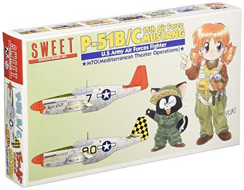 スイート 1/144 P-51B/C 第15航空軍 マスタング プラモデルキット 2機入り 14118