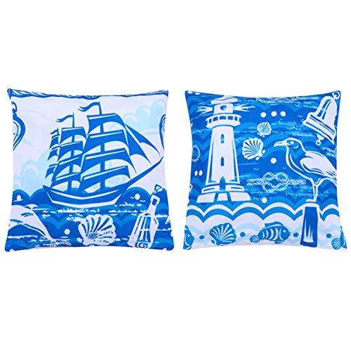 Wakauto Kissenbezüge Kreativ Bedruckte Mediterrane Kissenbezug für Schlafzimmer Wohnzimmer Sofa Dekoration ohne Kissen