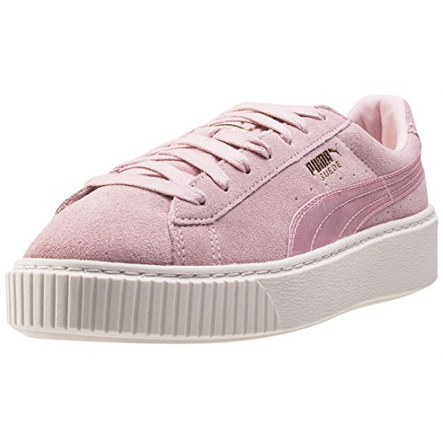 PUMA Suede Platform Satin 365828-03, Sneaker Donna, Mehrfarbig (Pink 001), EU