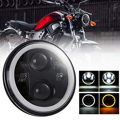 """Phare avant de moto - 5,75"""" LED rond Halo - Remplacement pour H-arley Davidson"""