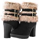 GLOBALWIN Women's Bella High Heel Ankle Boots