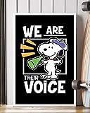 NUCOVASUTEE Snoopy We Are Loro Poster (40,6 x 61 cm)