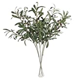 ACAMPTAR 5 Pcs 28 inch Green Olive Artificial Plants Branches Fruits Fake Flowers Branch Leaves for Home Office Crafts Decoration Greens Christmas Greenery