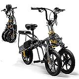 Tricycle Électrique Mini Pliable Tricycle 14 Pouces, Portable Adulte Scooter Électrique,48vsinglebattery30~40km