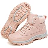 [SIXSPACE] スノーブーツ レディース スノーシューズ 防寒靴 アウトドア ウィンターシューズ スノーぶーつ 作業靴 ピンク 23.5cm