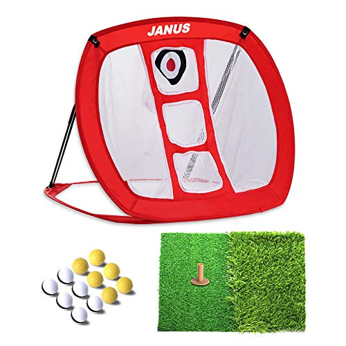 JANUS Golf Net/Golf Accessories for Men/Golf nets for Backyard Driving,Golf Gifts,Backyard Game, Golf prcatice net. Including Putting mats Indoor and 12 Practice Golf Balls