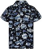 Funky Camisa Hawaiana, BoomBang, monoblack, 4XL