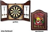 GamePoint Dart-Cabinet Kings Head - Klassisches, sehr dekoratives Dart-Cabinet im englischen Stil