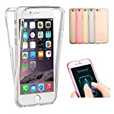 IPhone 5S / IPhone SE Case, Happy360 Shockproof TPU 360 Degree Protective Clear Crystal Rubber Soft Case Cover for IPhone 5S / IPhone SE, Clear
