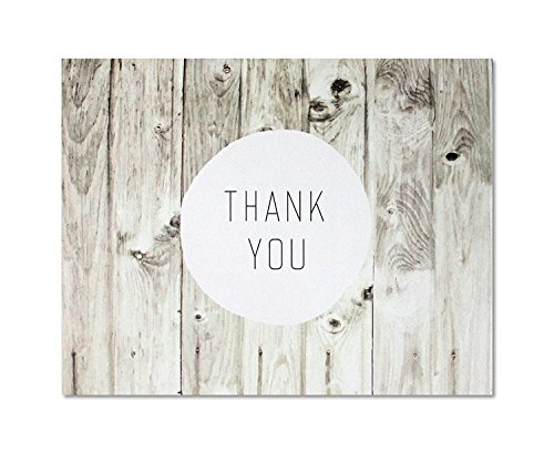 Thank You Cards – Rustic Farmhouse Style – Blank on the Inside – Includes Cards and Envelopes – 5.5″ x 4.25″ (12 Pack)