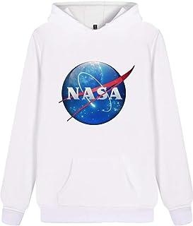 1da8572eaf795 EUDOLAH Femme Sweat à Capuche d'automne épais NASA Signe imprimé Taille  Grande