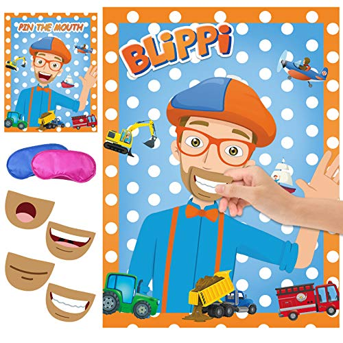 Pin the Mouth on Blippi Party Game