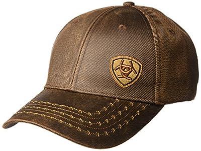 ARIAT Men's Full Oil Corner Logo, Brown, One Size