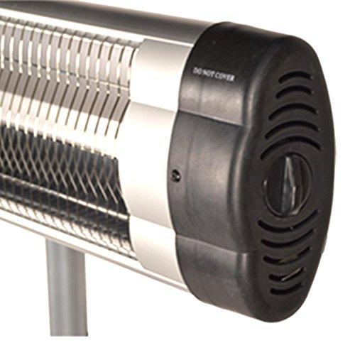 DRULINE Infrarot Heizstrahler Standheizer Terassen Strahler Fernbedienung Modell 1 – m. Thermostat - 7