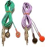 Coppia cavo filo di ricambio per elettro stimolatore spinotto jack 3,5mm stereo bottone snap 4mm...