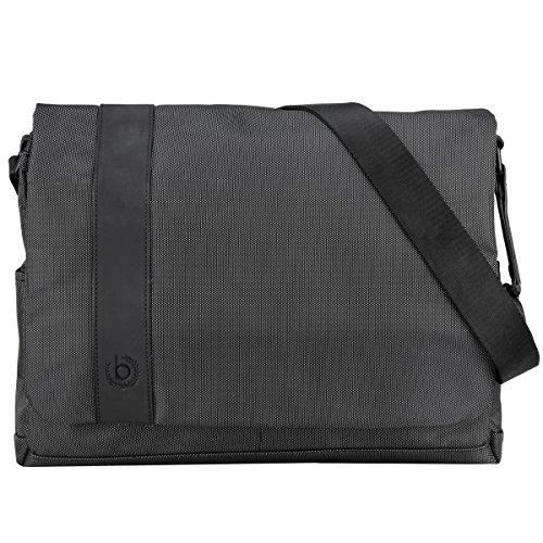 """Bugatti Domani Messenger Bag für Damen und Herren mit 13"""" Laptopfach, Unisex Umhängetasche Kuriertasche Schultertasche, Grau"""