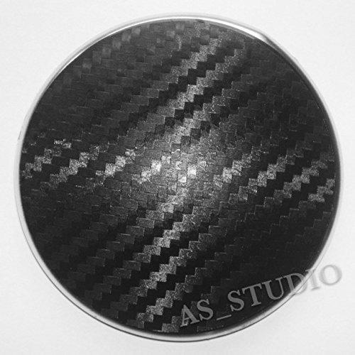2x 82mm Emblem Folie Carbon schwarz