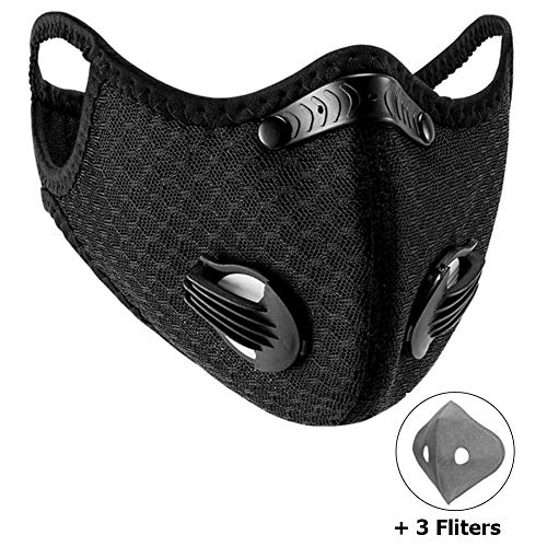WISREMT Cycling Face Mask, Nylon Spandex Activated Carbon Windproof Dust-Proof Lightweight...