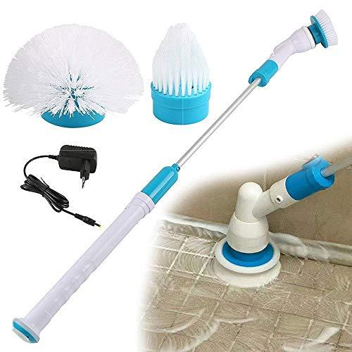 T-XYD Draadloze Elektrische Scrubber Badkuip Tegel Handheld Cleaning Tool Met 3 Vervangbare Scrubber Borstel Hoofden Telescopische Handvat Badkamer Muur Keuken Cleaner