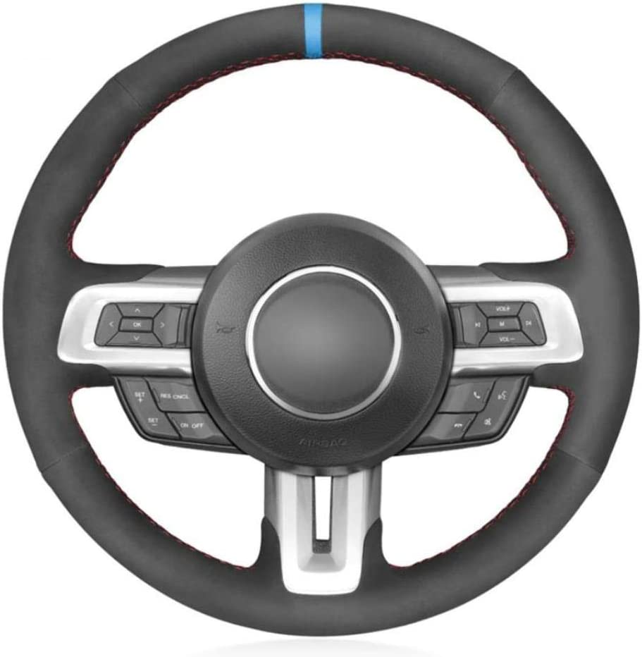 MDHANBK Max 50% OFF Black car Steering Wheel Cover for 2018 F Year-end annual account 2015 2019 2017