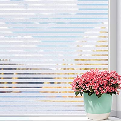 Amazon - 55% Off on Privacy Window Film Non-Adhesive Window Film Static Cling Frosted