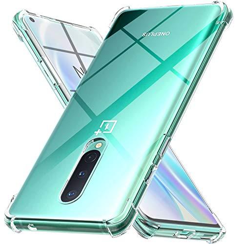 Ferilinso Hülle für OnePlus 8 [Kompatibel mit Panzerglas Schutzfolie] [Klar Silikon Handy Hüllen] [Stoßfest Kratzfest ] [Shock Absorption Schutzhülle] [Bumper Crystal] (Transparent)
