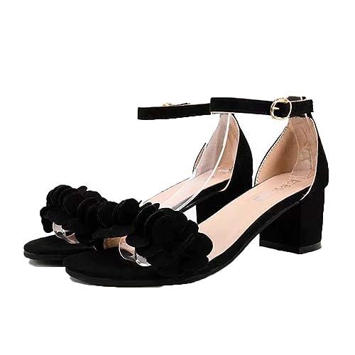 8e9421f653e Black Sparkly Sandals: Amazon.co.uk