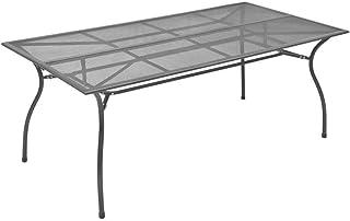 vidaXL Juego de Comedor de Jardín 9 Piezas Muebles de Exterior Conjunto de Patio Terraza Cojines Ratán Sintético Gris Antracita