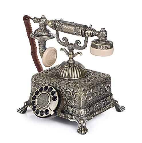 SMSOM Teléfono Antiguo Vintage Teléfono Antiguo Teléfono con Cable Retro Teléfono Retro Rotary Antiguo Auricular Teléfono A Teléfono Condado Desempeño Inicio Oficina Vintage Teléfono Decorativo