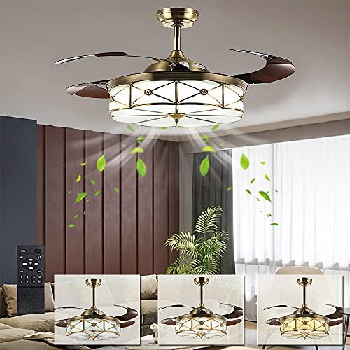 ventilatore da soffitto con luce e telecomando silenzioso online