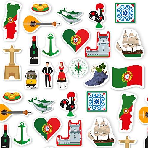 XXL-Konfetti * Portugal * als Deko für EM 2020-Party und Geburtstag | 54 Teile | portugiesisch Länder Fahnen WM 2022 Mottoparty Tischdeko